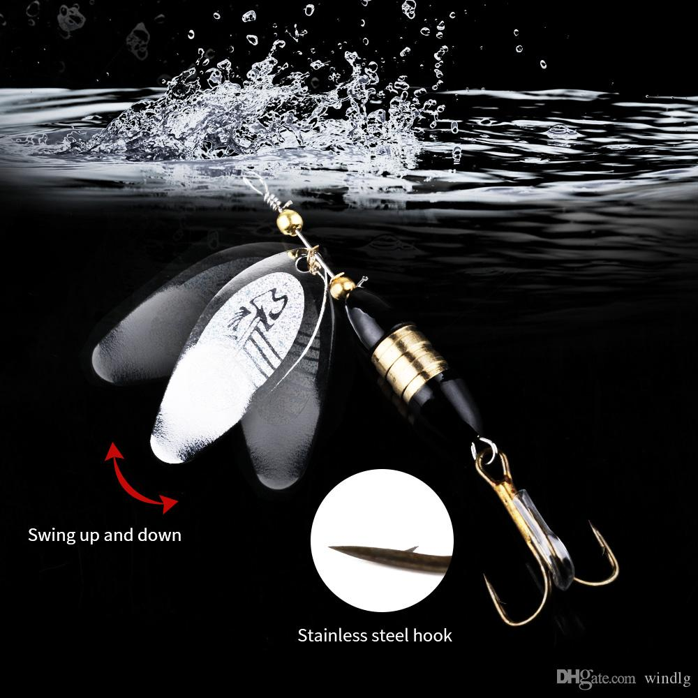 Metal Spinner Spoon Fishing Lure 8.5cm 18g Hard bait With Feather Bass Sea lure wobbler Pesca Tackle