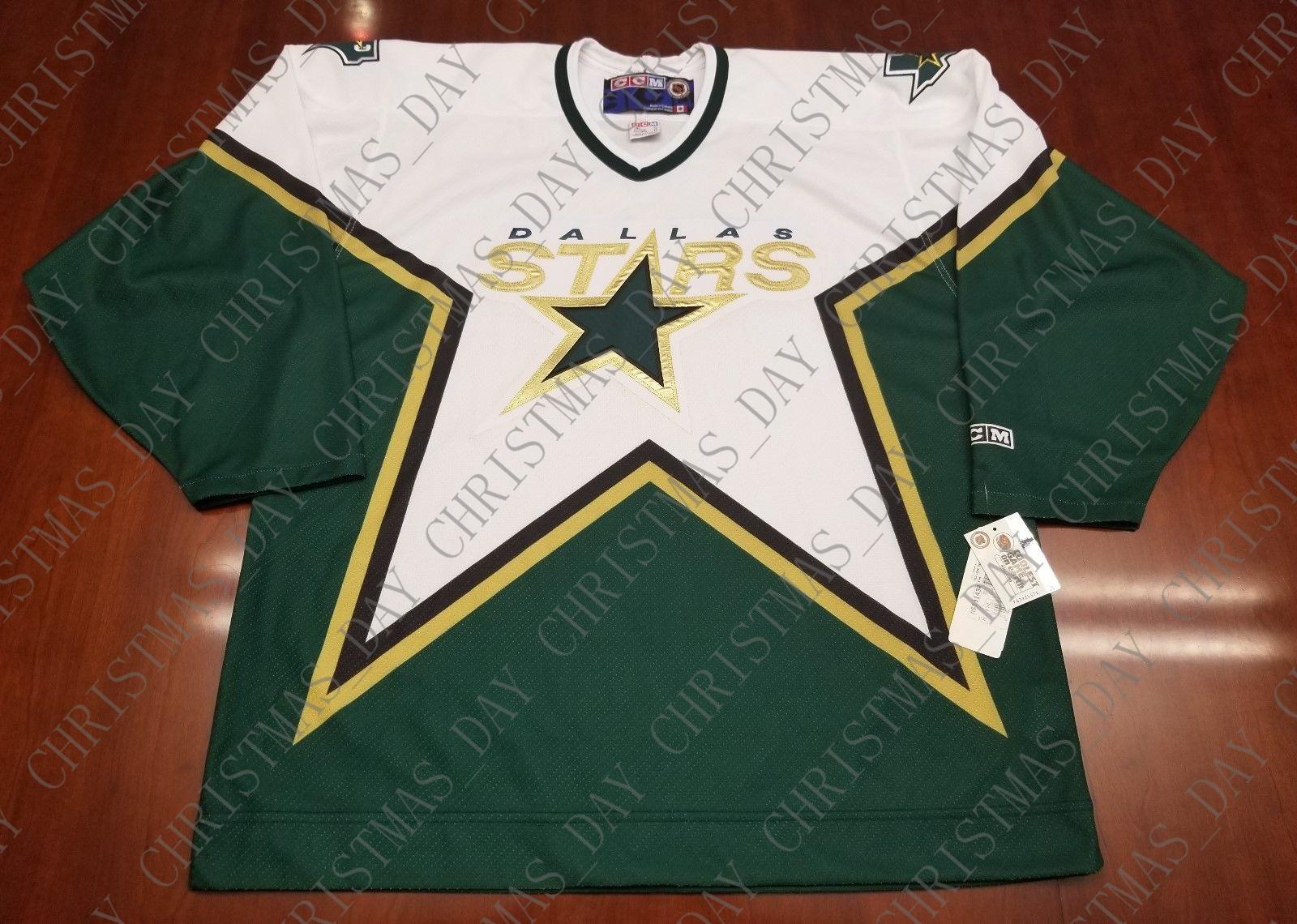official photos eab55 6b725 Cheap custom Dallas Stars Vintage CCM Hockey Jersey New Stitched Retro  Hockey Jersey Customize any number name XS-5XL