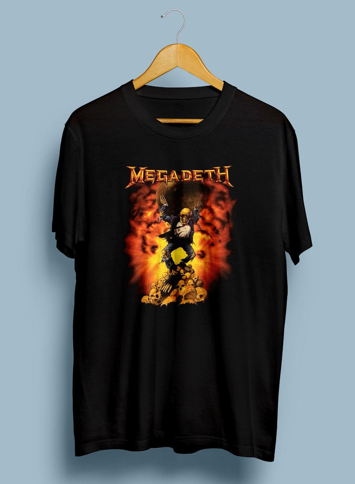 7acefc0a6 Very Rare Vintage Megadeth Genuine Oxidation Rust In Peace 1991 T Shirt Men  Women Unisex Fashion Tshirt Black Black Shirts Long Sleeve Shirt From ...