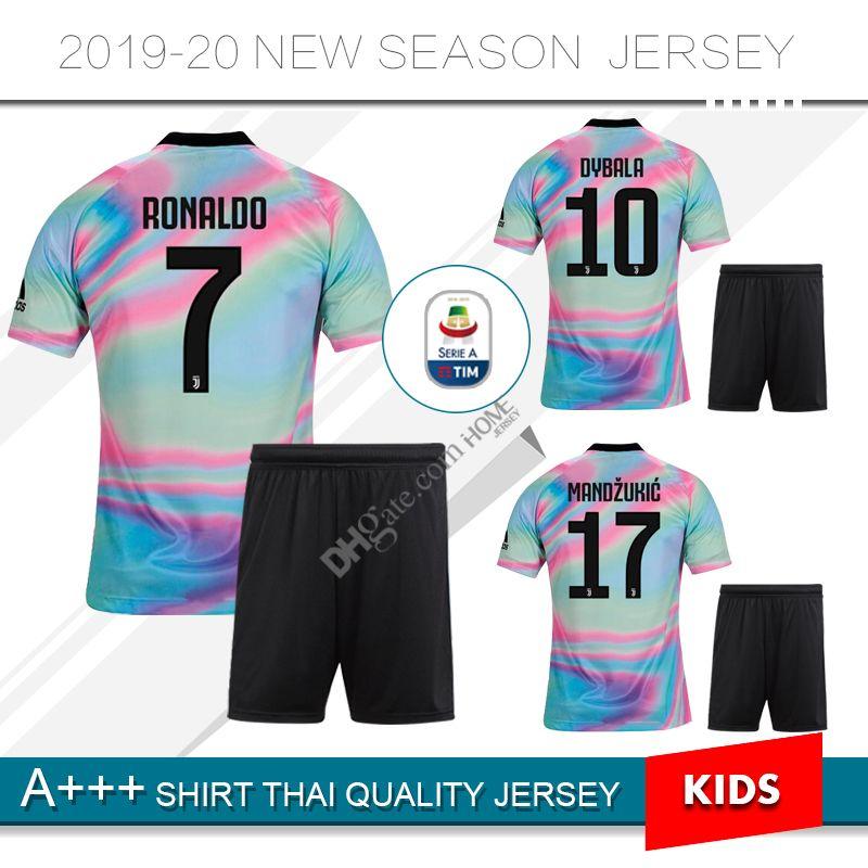 Compre Juventus Jersey Jersey Edição Limitada 19 20   7 Menino RONALDO  Camisas De Futebol 2019   10 DYBALA Criança Camisas De Futebol Uniforme  Jersey De ... 014d80846e62f