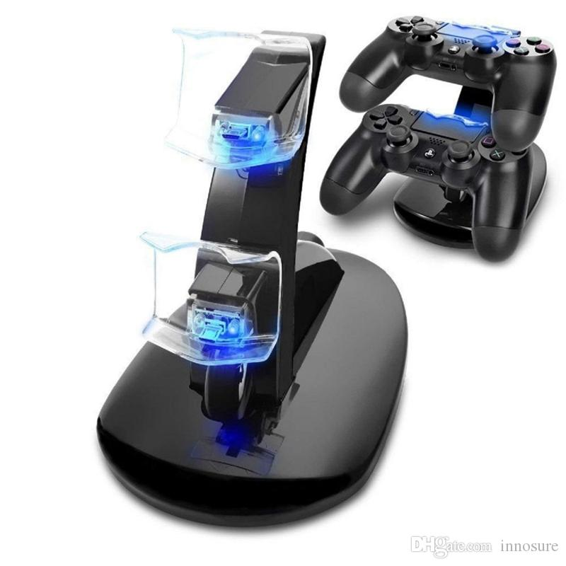 DUAL New arrival LED USB ChargeDock Docking Cradle Station Stand for wireless Sony Playstation 4 PS4 Game Controller Charger
