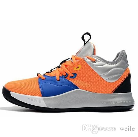 5c766f6694b 2019 2019 Paul George PG 3 3S PALMDALE III P.GEORGE Basketball Shoes Cheap  PG3 Starry Blue Orange Red Black Sports Sneakers Size 40 46 From Weile