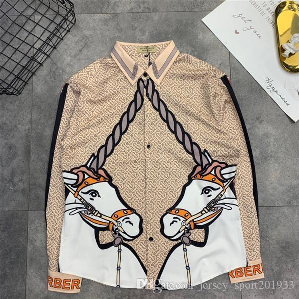 19FW Paris BBR Long Sleeve leisure Tee BB Printing unicorn Blouses Breathable Men Women Casual Outdoor Clothing Streetwear Tshirts