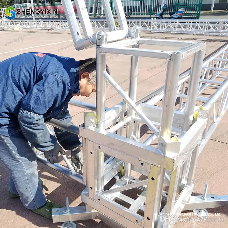 Aluminum truss pipe clamp stage trussing concert screw china folding and  assemable stage Bolt truss box for course