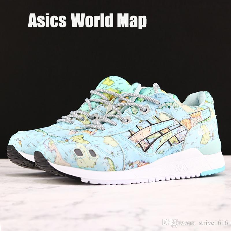 2019 Asics Tiger GEL-LYTE III WORLD MAP Men Women Running Shoes Best Quality 3s Designer Sneakers Sport Shoes Size 36-44