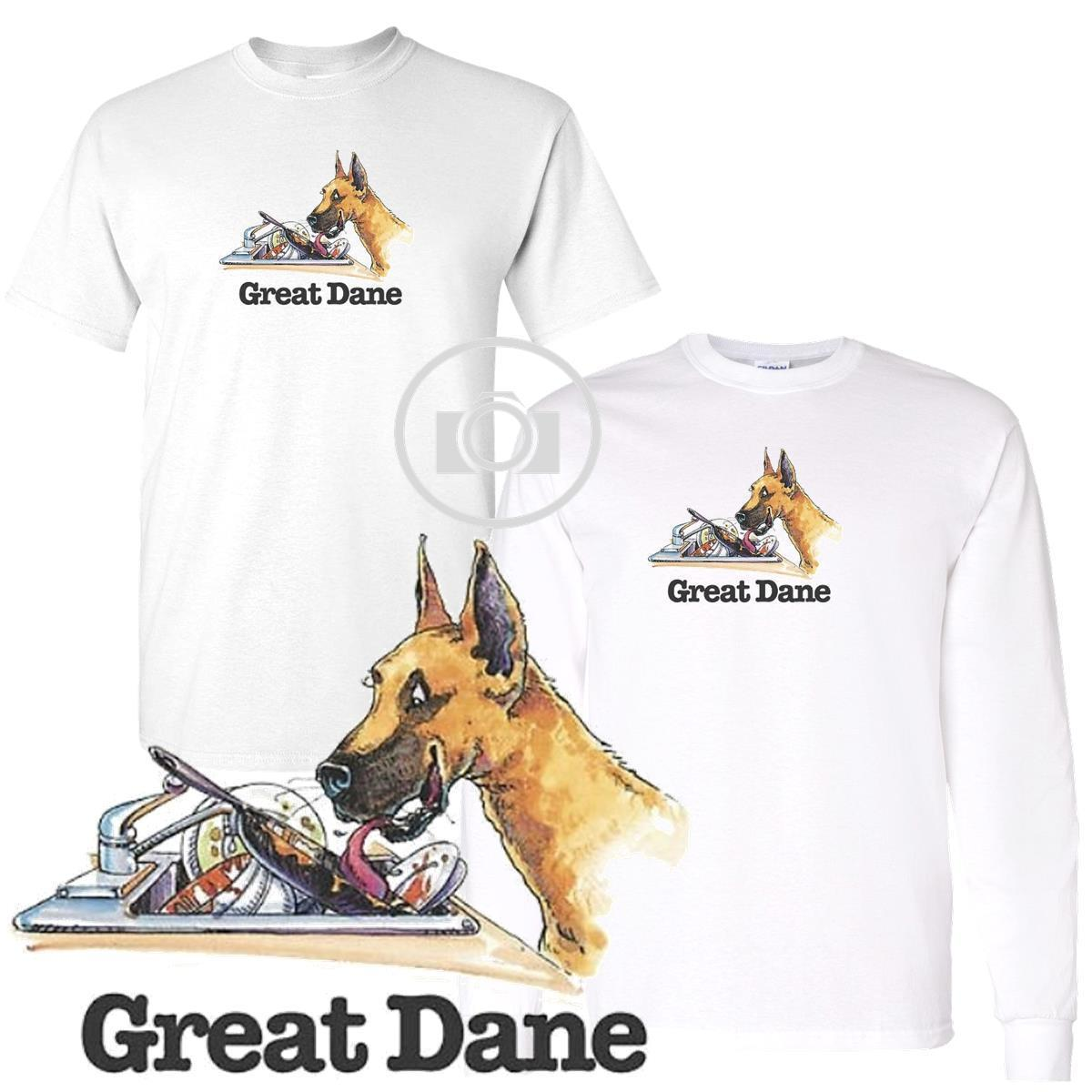 70eefb63 Great Dane Fun Dog Breed Cartoon Short / Long Sleeve White T Shirt M 3X Men  Women Unisex Fashion Tshirt Funny Tee Shirts Online Shopping T Shirts Shop  ...