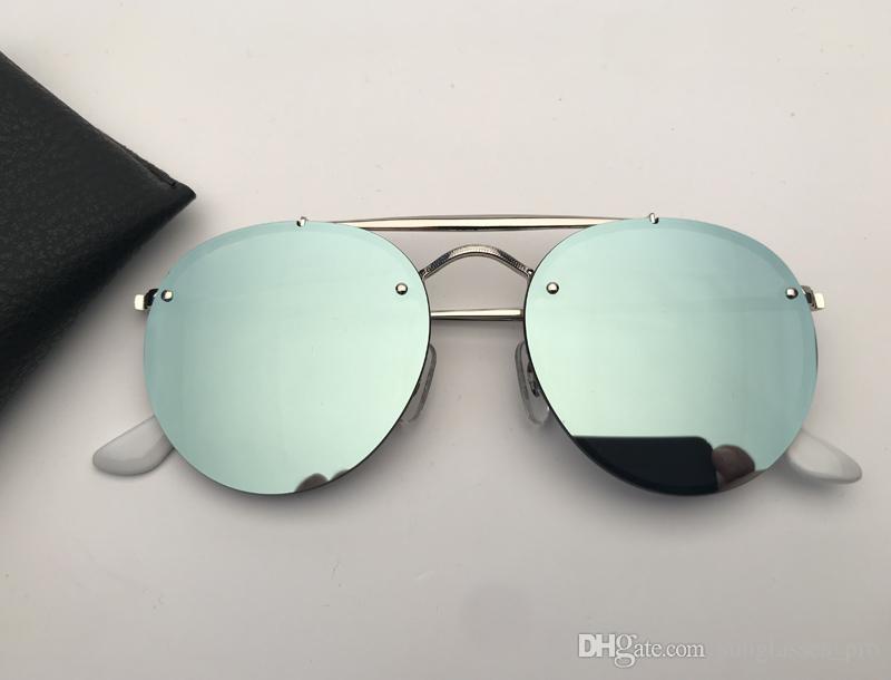 Designer óculos de sol homens mulheres óculos duplos ponte chama sol óculos de soleil com estojo de couro preto ou marrom, e todos os acessórios !!