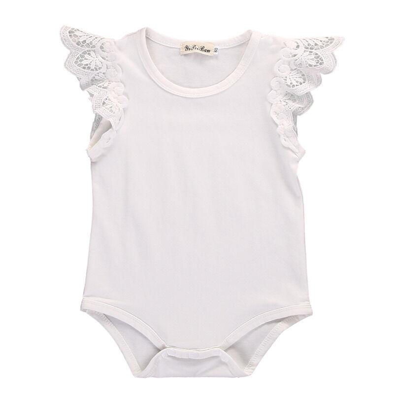 2020 nouveau-nés filles bébé dentelle Romper active Bodysuit Jumpsuit Tenues Vêtements Sunsuit
