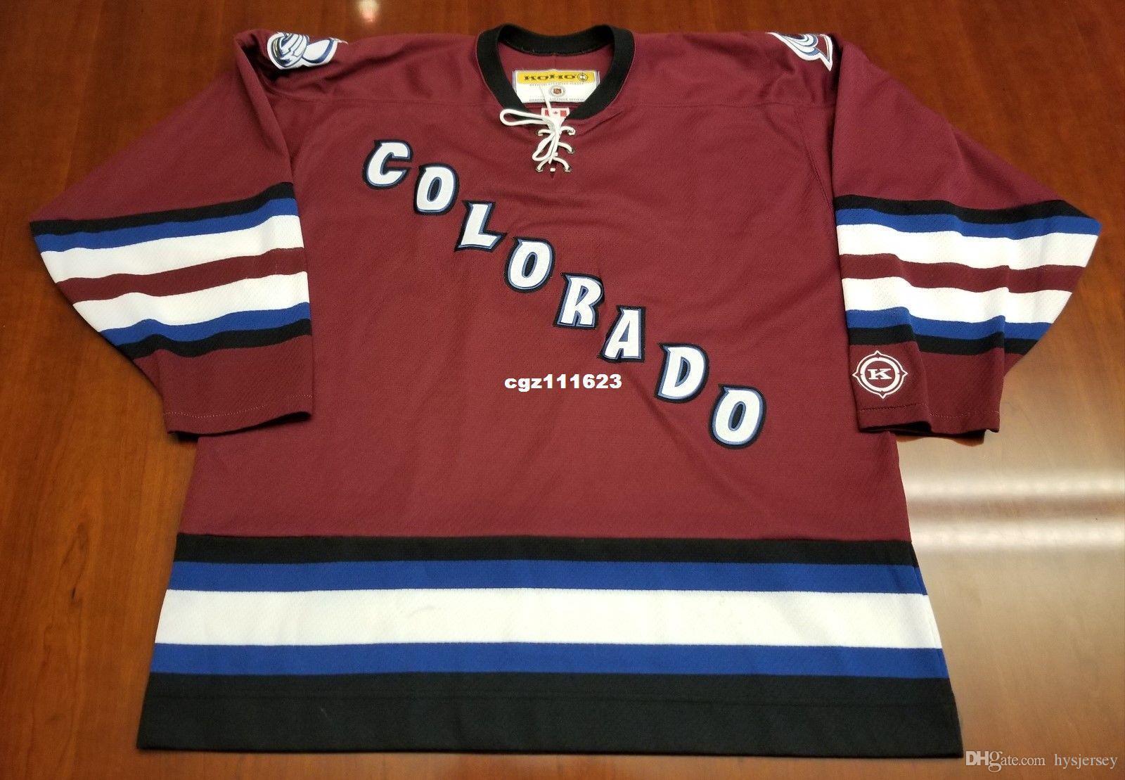 2b07e8cc7 2018 Wholesale Custom Colorado Avalanche Vintage Koho Cheap Hockey Jersey  Third Purple Mens Retro Jerseys From Hysjersey