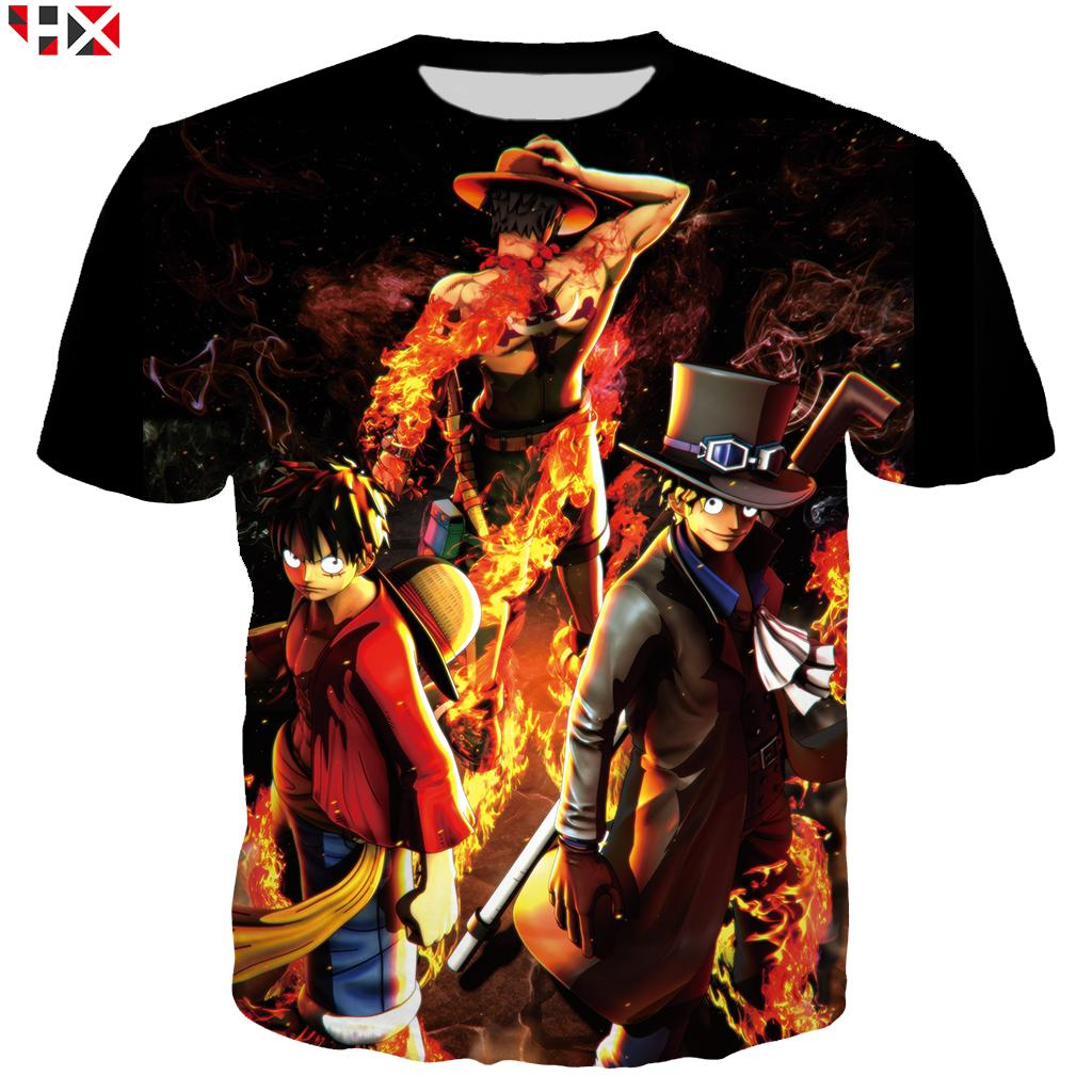 78ded839 New Anime One Piece Men T Shirt Summer Funny 3D Print T Shirt Unisex ...