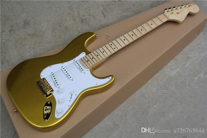 Personalizado Vintage Gold Dust Malmsteen Scalloped bordo fingerboard Big Head ST 6 cordas guitarra guitarra elétrica
