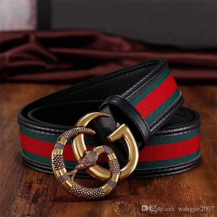 56477acff90 Belt 2018 Fashion Striped Genuine Leather Men Belt Designer Luxury Famous  High Quality Smooth Buckle Men Belts For Men Without Box QT0112 Kids Tool  Belt ...