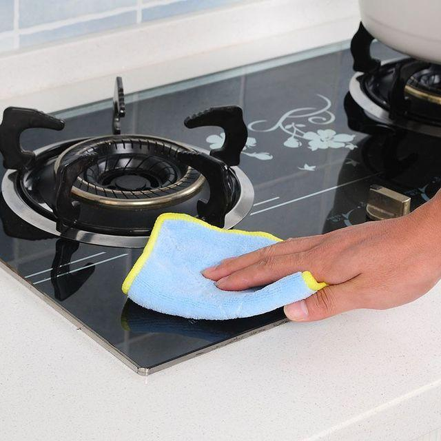 Microfiber Car Cleaning Towel Kitchen Washing Polishing Cloth Kitchen  Gadgets Wash Dish Towels Accessoriess Cleaning Cloths CCA11750 20pcs