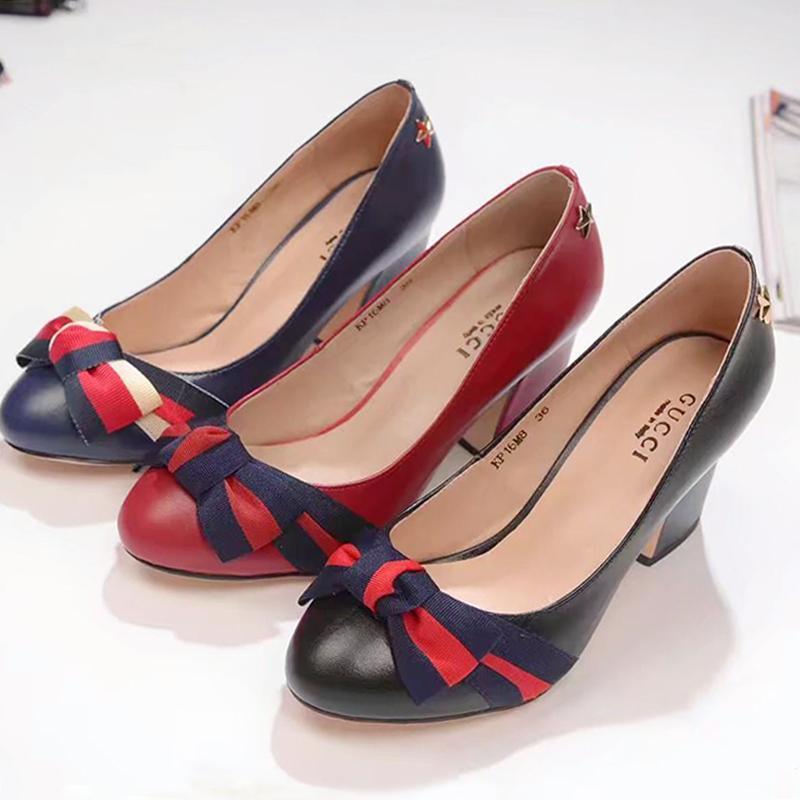 8a14171c8ec5 Zapatos de mujer Bombas Tacones gruesos Bombas de mujer sexy Fiesta de la  novia Punta estrecha Mujeres Bombas Moda Zapatos de vestir de señora bombas  ...