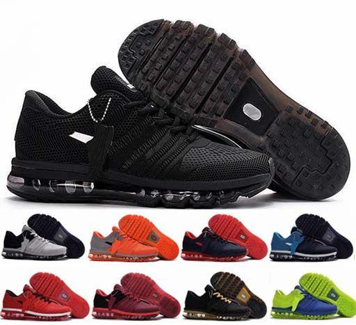 huge discount aeab1 f8145 Compre Nike Air Max 2017 KPU Cojín Chaussures Zapatos Para Correr BENGAL  Naranja Gris Negro Oro Zapatos Deportivos Zapatillas De Deporte Zapatillas  De ...