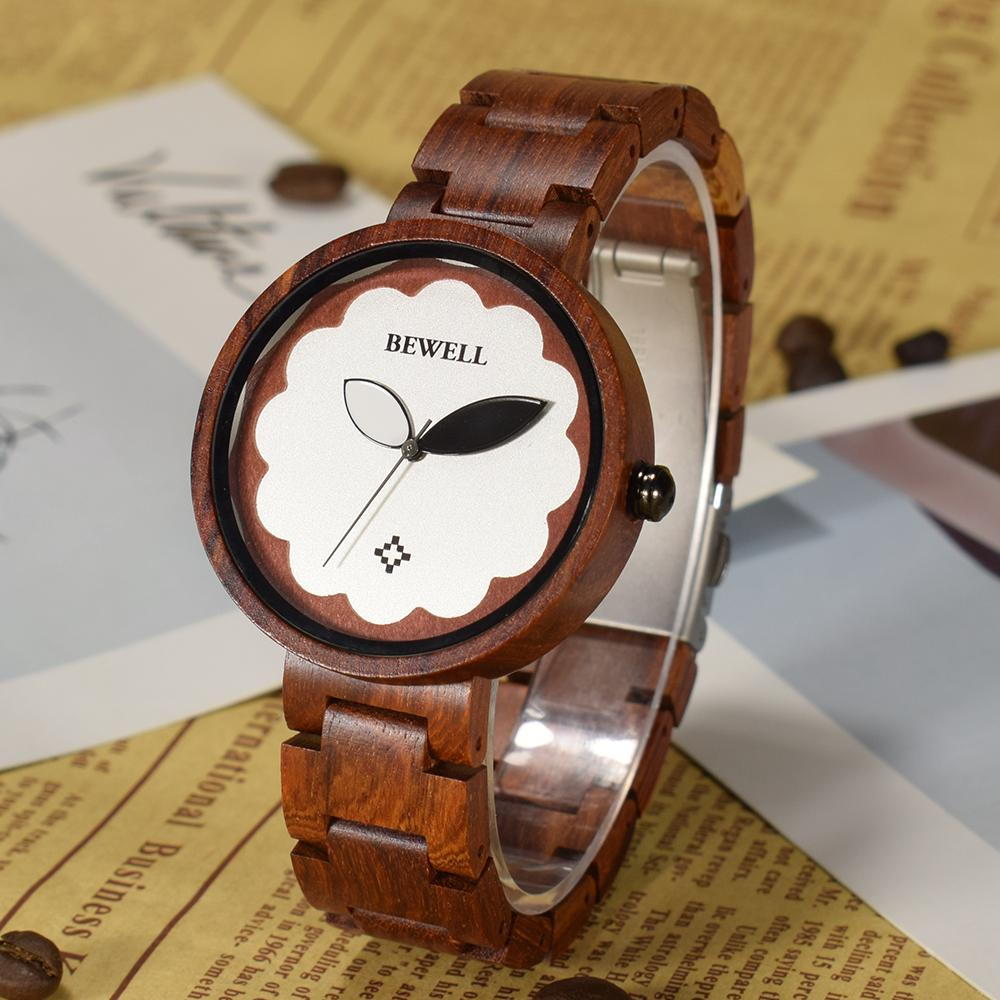 f165b4c5ee8 Compre BEWELL Relógio De Madeira Das Mulheres Marca De Luxo Feminino De  Madeira Banda Senhoras Relógios De Pulso De Quartzo Relógios Relogio Venda  Presente ...