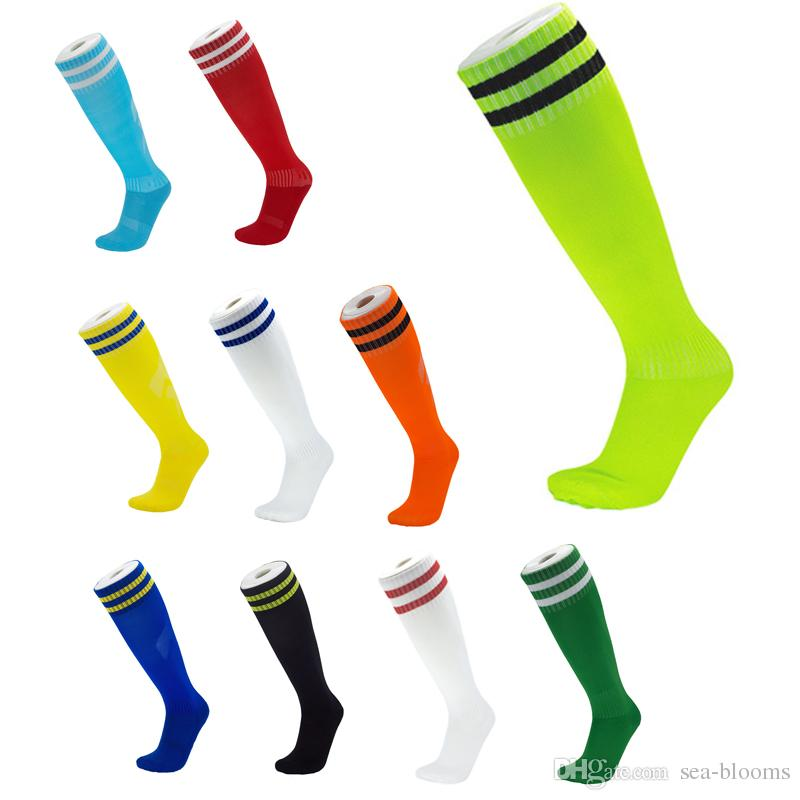 9c759262836 2019 2019 Anti Slip Football Socks Thicker Men Towel Bottom Breathable  Fashion Sports Stocking Over The Knee For Adult Kids Socks Free DHL M116Y  From Sea ...