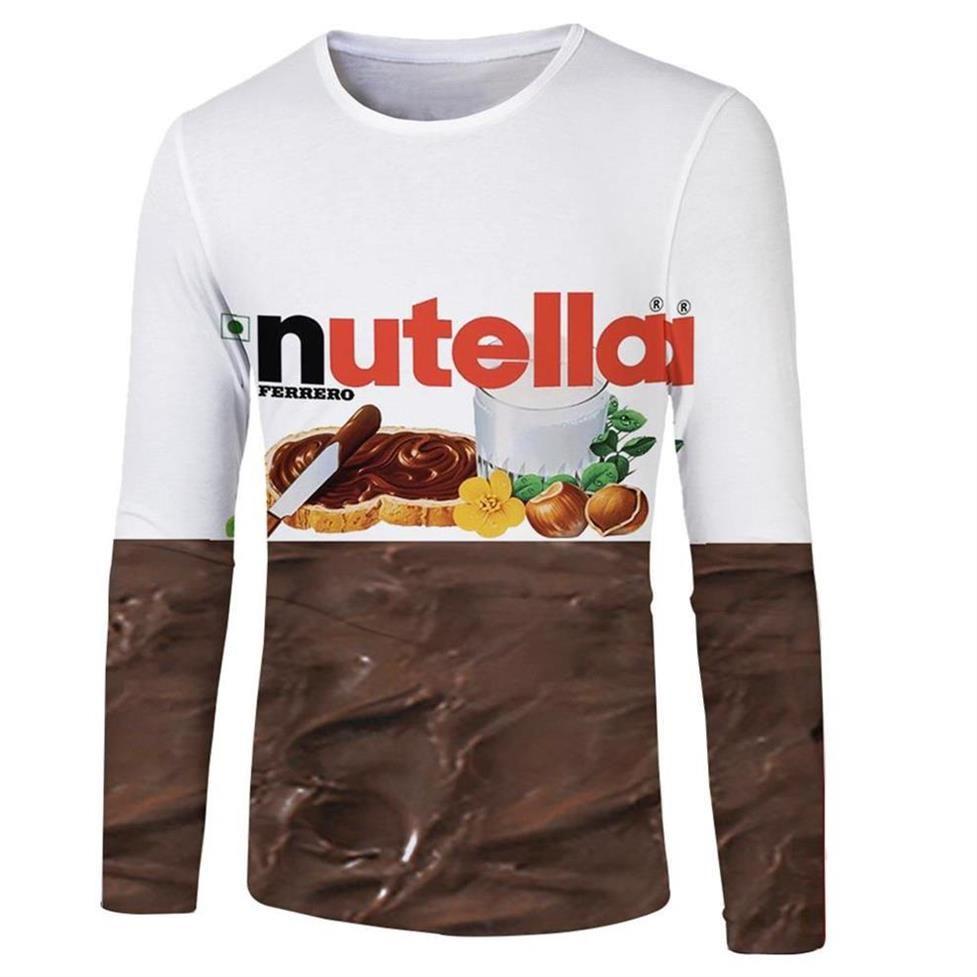 50c198eb4c35 Spring Fashion Women Men 3d T Shirt Long Sleeve Spoof Fun Life Chocolate  Sauce 2019 New Funny High Quality Male Tees Tops T Shirt And Shirt Shop T  Shirts ...