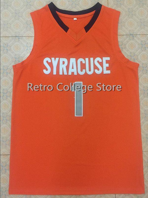 sale retailer b7df1 dffab #1 Michael Carter Williams Syracuse Orange Basketball Jersey Embroidery  stitching Customize any name and name XS-6XL vest Jerseys Ncaa