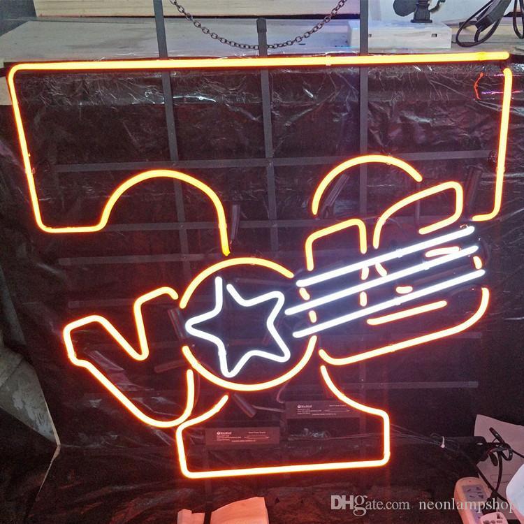 Top Selling Custom Led Glass Tube Neon Signs Lamp Lights Advertising Beer  Shop Hotel Restaurant Decoration Metal Frame 17 20 24 30