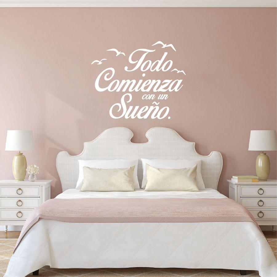 Home Decoration Poster Stickers Spanish Quote Adesivi murali in vinile  Stickers murali camera da letto Birds Letterings Home Decor Decorazione  camera ...