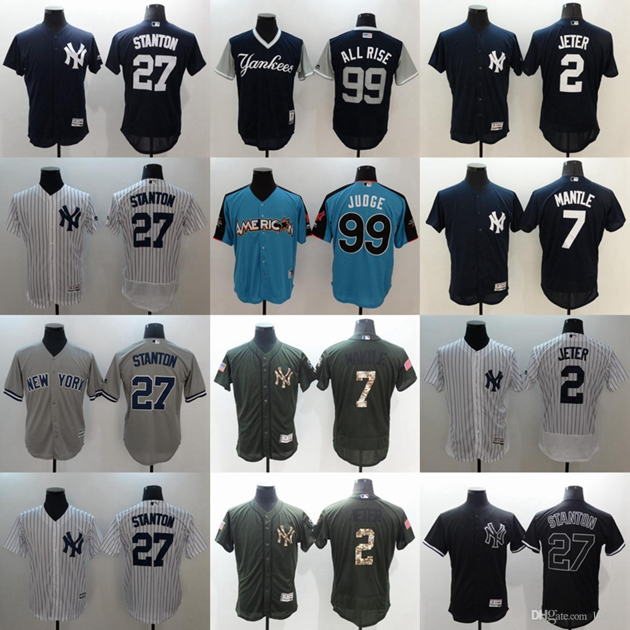 low priced 23a1a 20bec CUSTOM New York Yankees 99 Aaron Judge Mens Women Youth Customized Majestic  Stitched Baseball Jerseys Personal name Person number