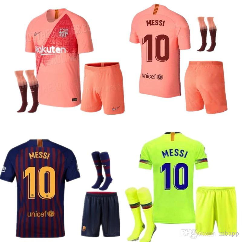 lowest price 60a91 c18b4 18 19 FC Barcelona jersey SUAREZ O.DEMBELE 2018 2019 home away jersey Messi  PIQUE Coutinho football jersey set