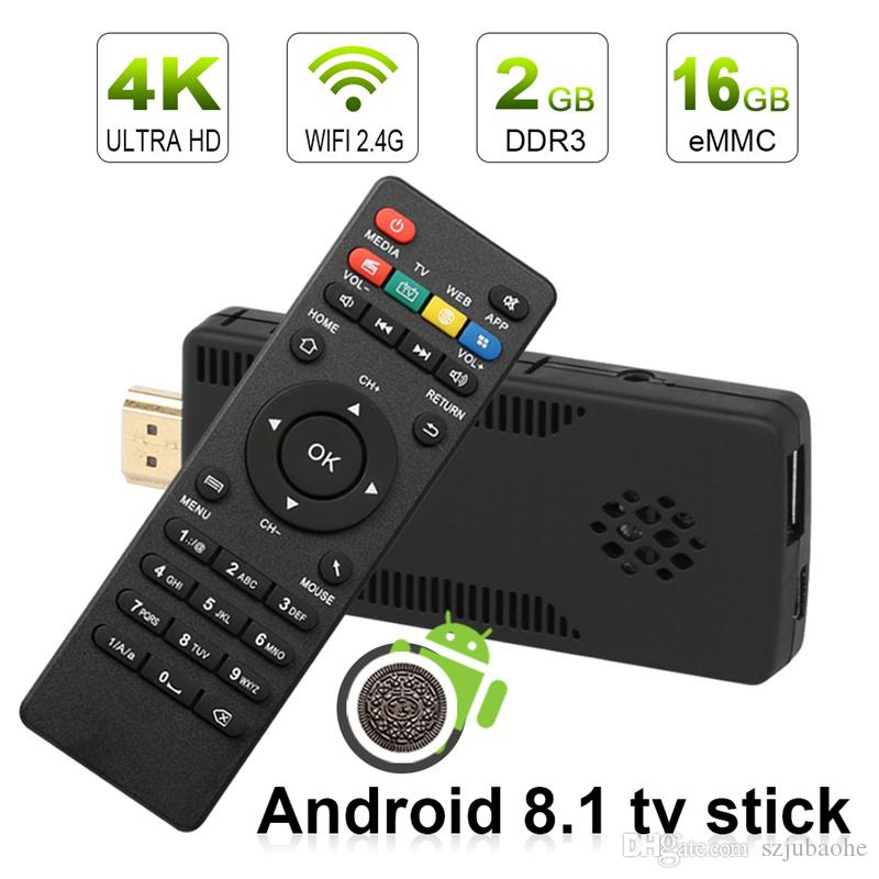 f78be36e552d Android Tv Boxes 2gb 16gb Wholesale Tv Box Quad Core Android 8.1 4K Wifi  Youtube Mini Pc Tv Stick Dongle Media Box Tv Tv Box Review From Szjubaohe