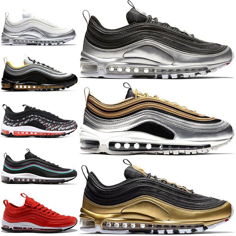 Acquista Nike Air Max 97 Shoes New Metallic Pack 97 97s QS Scarpe Da Corsa  Gym Red Grape Pack Mustard Rainbow Uomo Donna Designer Tainer Sport  Sneakers 36 ... 37e947a6744