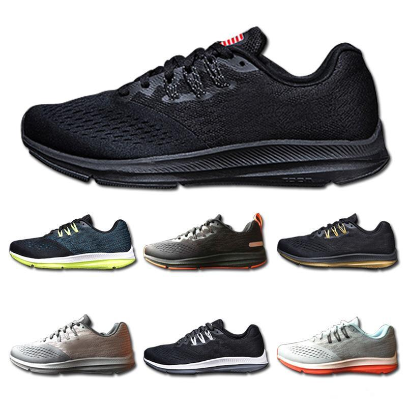 buy online d8fc1 f096e 2019 Newest Zoom Winflo 4 Designer Mens Womens Running Shoes V4 Sport  Sneakers Outdoor Trainers Light Jogging Walking Without Box