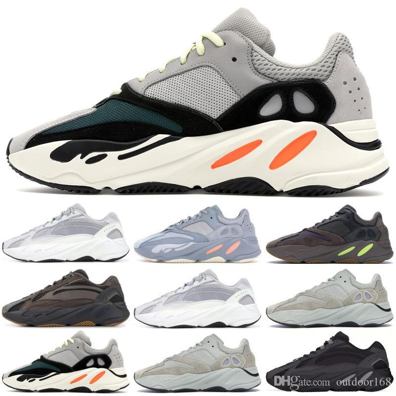 pretty nice 90517 e3f34 Acheter 2019 Kanye 700 Vague Runner Chaussures De Course Avec La Boîte Top  Qualité 700 V1 Inertia Sel V2 Géode Statique Sport Hommes Designer Sneaker  De ...