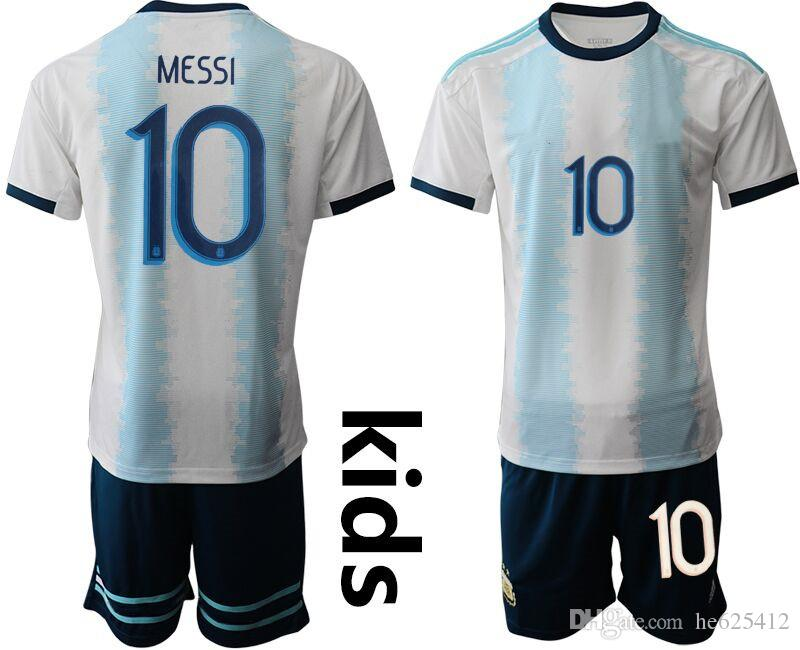 buy popular 94a5b ff12c 10 Messi kids football kits 2019 Argentina Home Children soccer Jerseys  Short Sleeve camisa de futebol baby infant boy designer clothes
