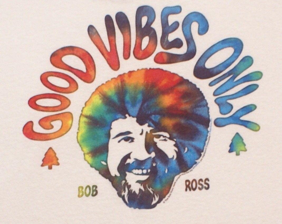 f1286647 Bob Ross Good Vibes Only Tie Dye Men's PBS Joy of Painting T-Shirt, 3XL  XXXLMen Women Unisex Fashion tshirt Free Shipping