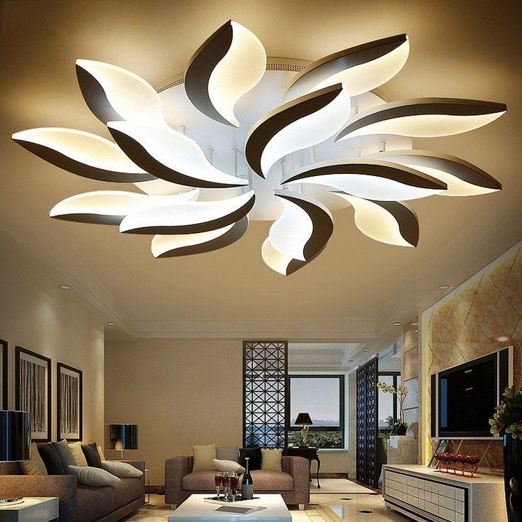 Living Room Designs 2019: 2019 New Design Acrylic Modern Led Ceiling Lights For