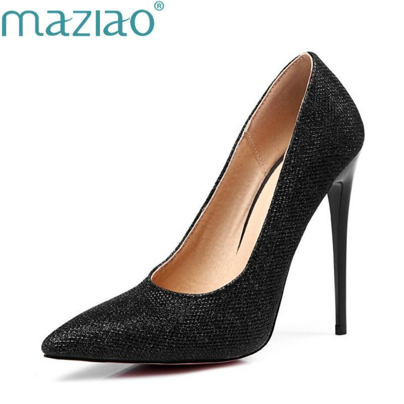 304b0b2031d Dress Maziao Sexy Point Toe Patent High Heels Pumps Shoes 2019 Newest Woman S  Red Sandals Heels Shoes Wedding Shoes 10cm Candy Color Comfortable Shoes  Slip ...