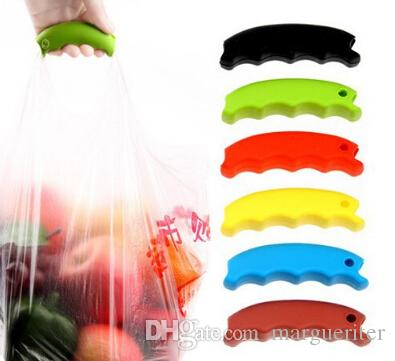 Silicone Hook Shopping Bag Basket Holder Creative Candy Color Handbag Handle Comfortable Grip Protect Hand Tools
