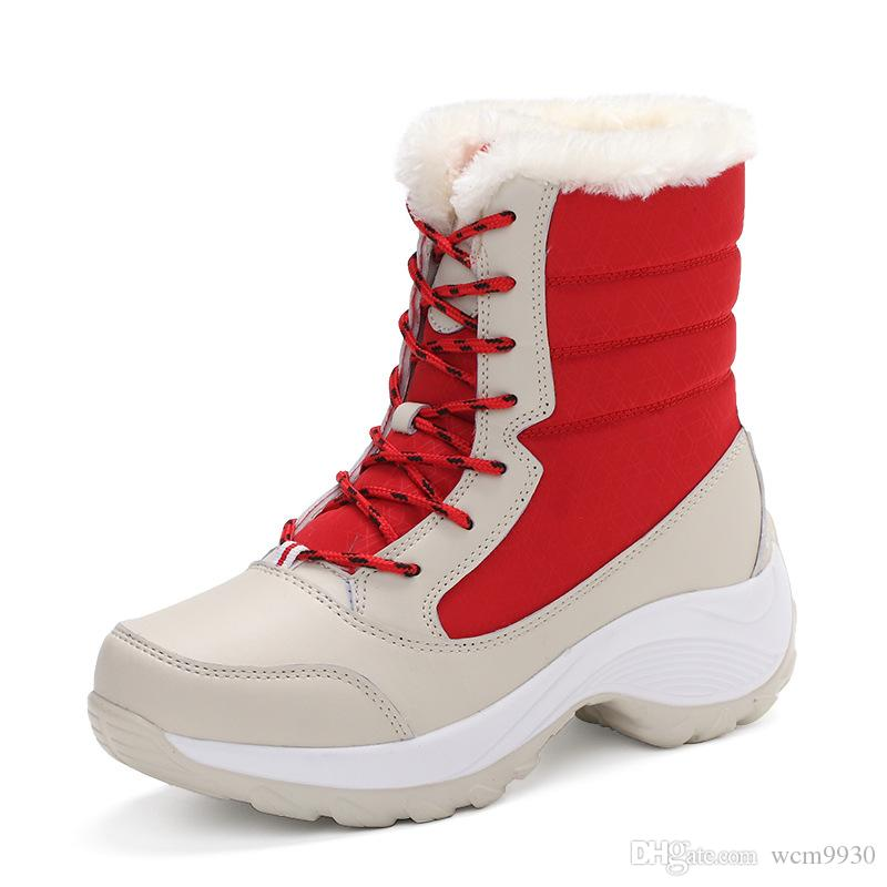 f383c39d708 Winter Shoes Women Winter Boots Warm Fur Plus Size Platform Mid Calf Boots  Women Snow Boots Winter Female Waterproof Shoes Woman Bootie Buy Shoes  Online ...