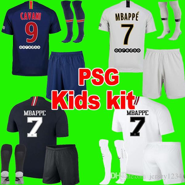 buy popular 7f7c8 3d4cb PSG AIR JORDAN soccer jersey paris saint germain kids kit maillot de foot  maillots de football 2019 18 19 enfants kit ensembles Neymar jr MBAPPE ...