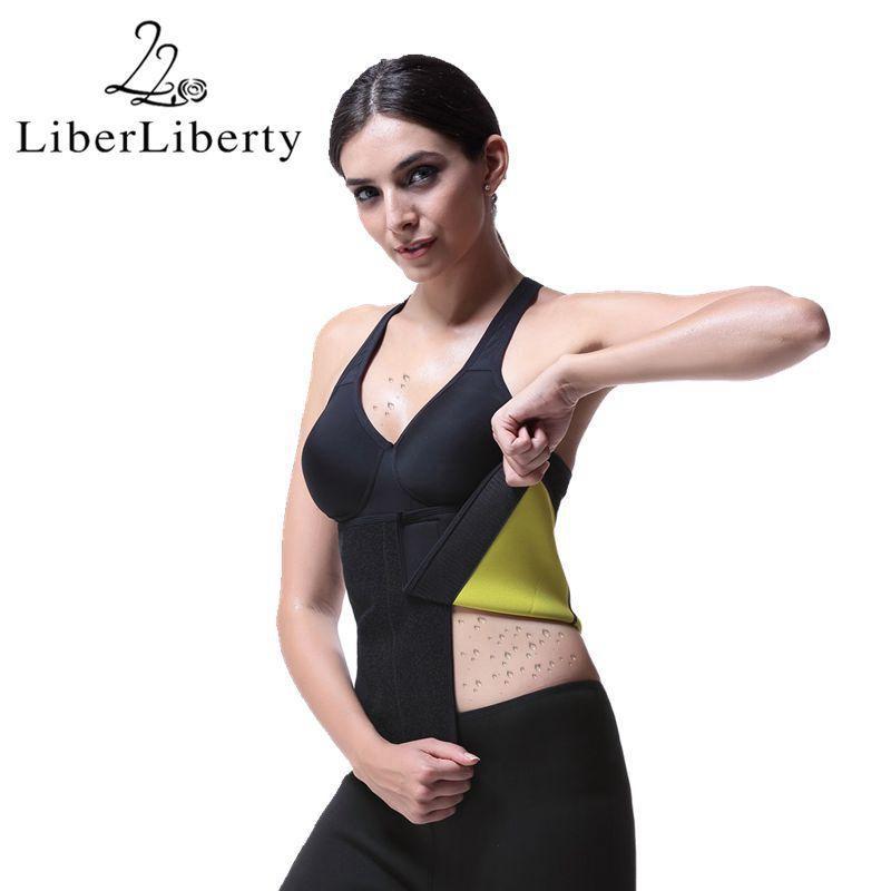 dd414451a4 2019 Wholesale Slim Waist Trimmer Belt Plus Size Waist Trainer Belt  Adjustable Modeling Strap Workout Shapewear Sweat Sauna Fat Burn From  Wangleme011