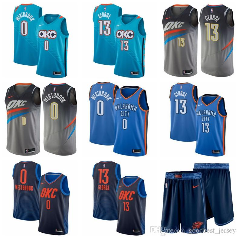 wholesale dealer 6464b 2946e 2019 Men Paul George Oklahoma Russell Westbrook City Thunder Fanatics  Branded Fast Break Player Jersey Statement Edition