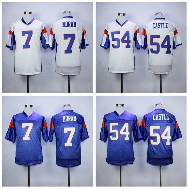 0e4b2a560ed 2019 football movie jerseys #7 Alex Moran 54 Thad Castle Blue Mountain  State Men's American Football Jersey Stitched S - 3XL