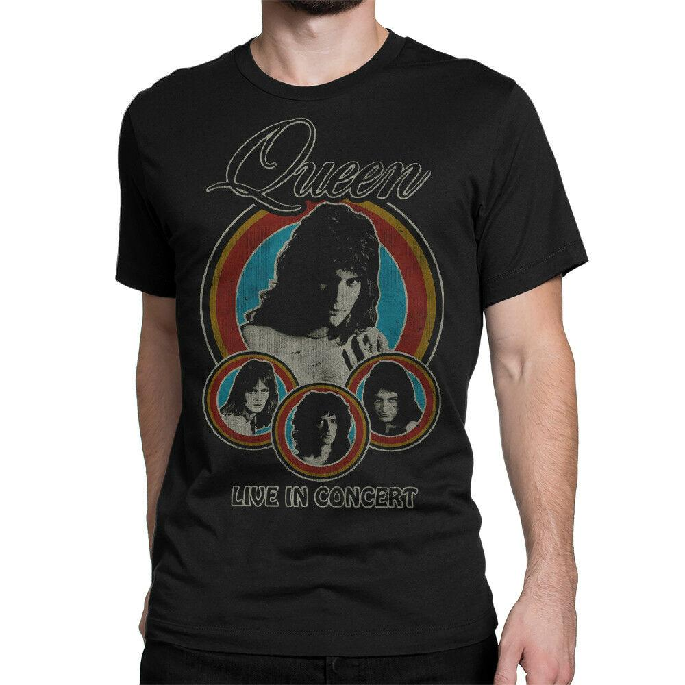 Para Tamaños RockDe Mercury ConcertTodos Vintage Los Mujer Queen Freddie Camiseta LqpGUMzjSV