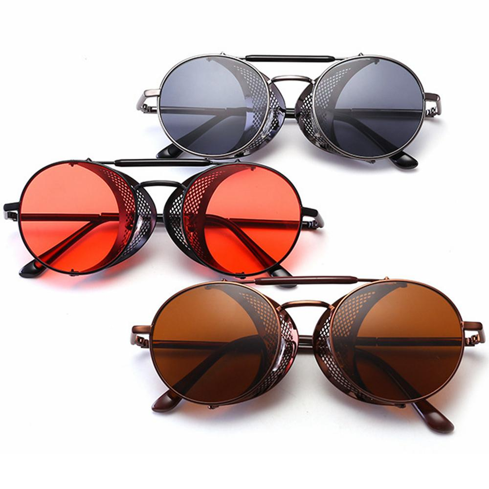 7009b1abdba94 Fashion Retro Steampunk Round Sunglasses Women Travel Creative ...