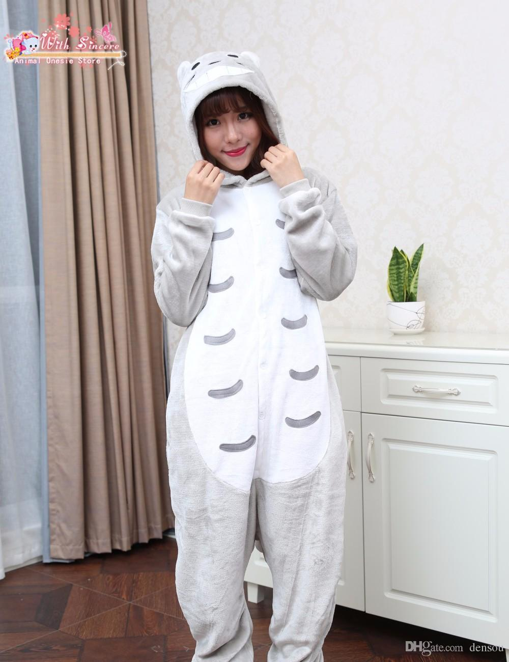 Wholesale Costumes Full Flannel Totoro Pijamas Pajamas Pyjamas For Womens  Adult Onesies SleepWear Home For Cheep Clothing Plus Size AS XXL UK 2019  From ... 899927a44c