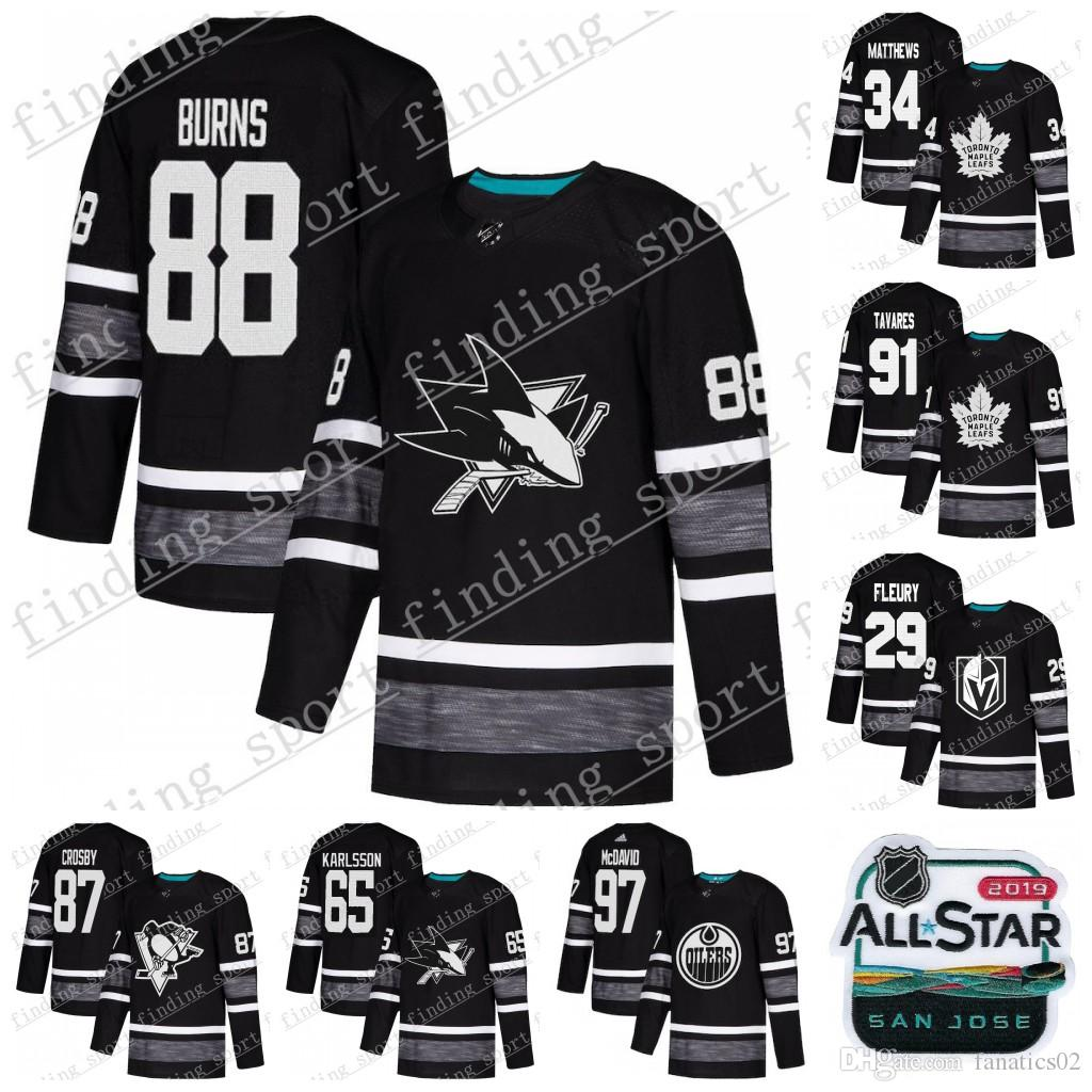 b7a0f1b02 2019 97 McDAVID Men 2019 All Star Game Parley Authentic Hockey Jersey Black  34 Matthew 91 Tavares 65 Karlsson 88 Burns 29 Fleury 87 Crosby From  Fanatics02