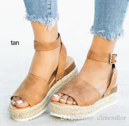 44466148bf56 Sandali donna tacco largo zeppa scarpe per donna Sandali tacco alto ...