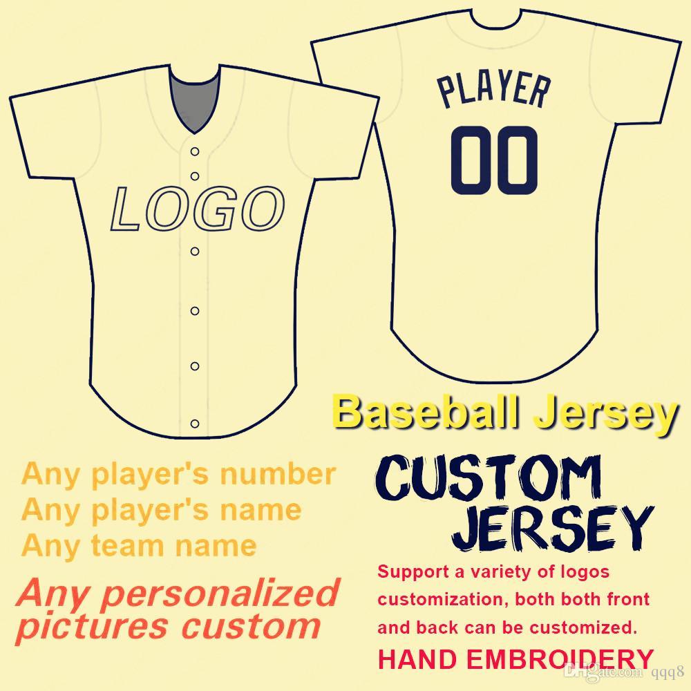 Personalizadas De Nombre Del Béisbol Hombres Camisetas Niños 2019 Equipo Base Cualquier Fresco Flex 100Costura Mujeres Número Estilo Personal EI2HD9