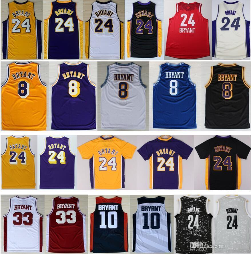 buy popular cf2b6 e3d6c Men s Stitched Retro #24 Kb Bryant Jersey Purple White Black Yellow #8  Bryant Discount Lower Merion High School Basketball Jerseys