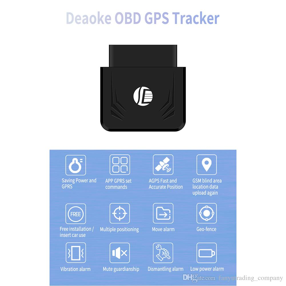 Wholesale TK306 OBD GPS Tracker Car GSM Vehicle Tracking Device OBD2 16Pin Interface Real Time GPS Locator Mobile Alarm GPS Trackers