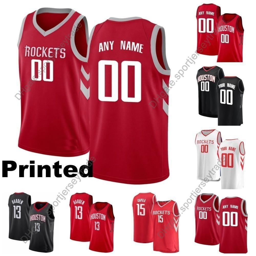 80a16354869 2019 2019 Printed Mens Houston Earned Rockets James Harden Chris Paul Clint  Capela Eric Gordon Gerald Green Tucker Rivers Cheap Basketball Jersey From  ...